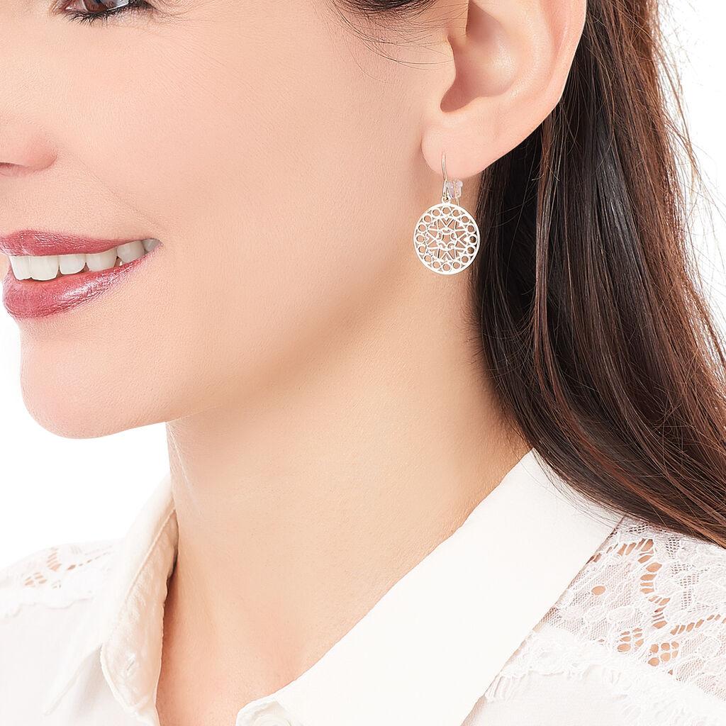 Boucles D'oreilles Pendantes Celso Plaque Or Jaune - Boucles d'oreilles fantaisie Femme   Histoire d'Or