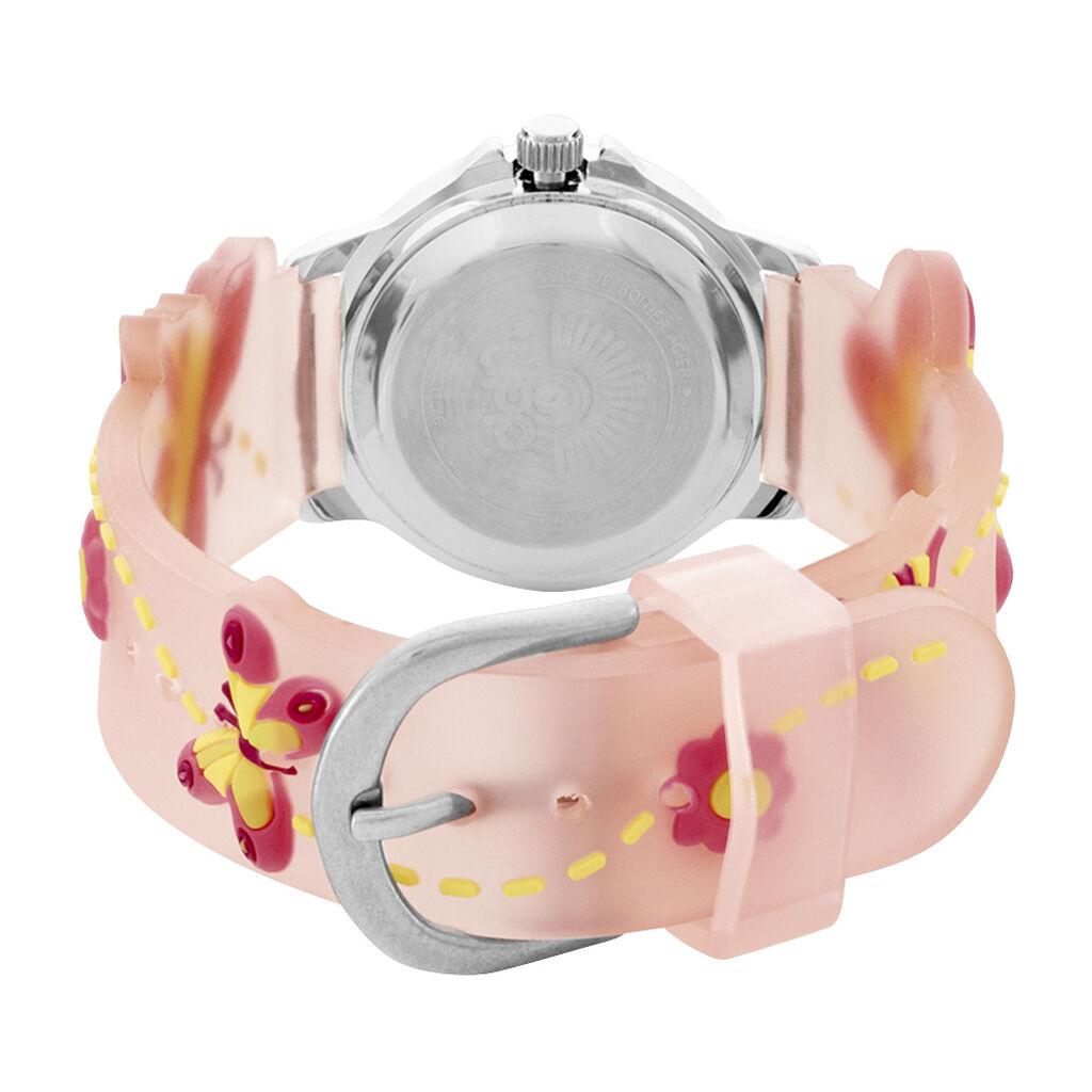 Montre Upp Papillon Rose - Bijoux Papillon Enfant | Histoire d'Or