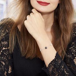 Bracelet Lucia Cera Argent Blanc Perle De Culture Et Céramique - Bracelets fantaisie Femme   Histoire d'Or