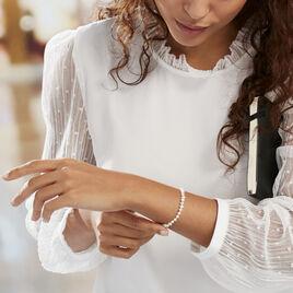 Bracelet Marie-aurore Or Jaune Perle De Culture - Bijoux Femme | Histoire d'Or