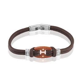 Bracelet Jourdan Maho Acier  Et Or - Bracelets cordon Homme | Histoire d'Or