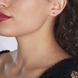 Boucles D'oreilles Puces Virgie Argent Rose - Boucles d'oreilles fantaisie Femme   Histoire d'Or