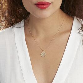 Collier Laria Plaque Or Jaune - Colliers fantaisie Femme | Histoire d'Or