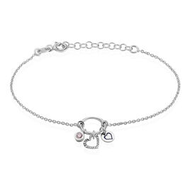 Bracelet Gioria Argent Blanc Oxyde De Zirconium - Bracelets Coeur Femme | Histoire d'Or