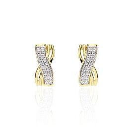 Boucles D'oreilles Pendantes Liloo Or Jaune Oxyde De Zirconium - Boucles d'oreilles pendantes Femme | Histoire d'Or
