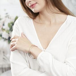Bracelet Jonc Annie-france Plaque Or Tricolore - Bracelets joncs Femme | Histoire d'Or