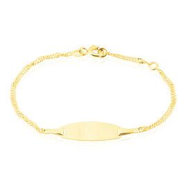 Bracelet Identité Ericka Maille Singapour Or Jaune - Bracelets Communion Enfant   Histoire d'Or