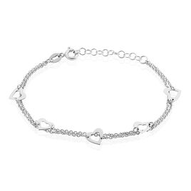 Bracelet Suzy Argent Blanc - Bracelets Coeur Femme | Histoire d'Or