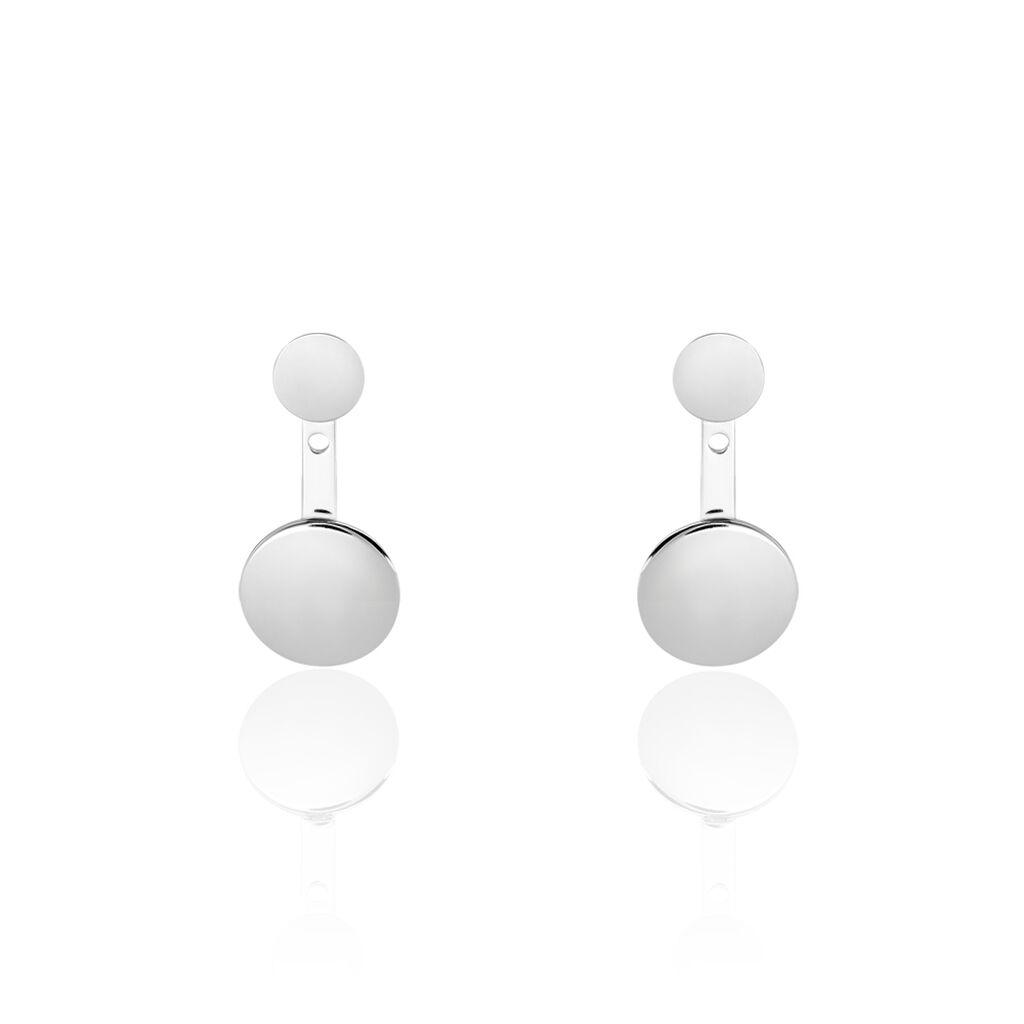 Bijoux D'oreilles Augustine Argent Blanc - Boucles d'oreilles fantaisie Femme | Histoire d'Or