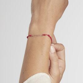 Bracelet Maman Argent Rose - Bracelets cordon Femme | Histoire d'Or