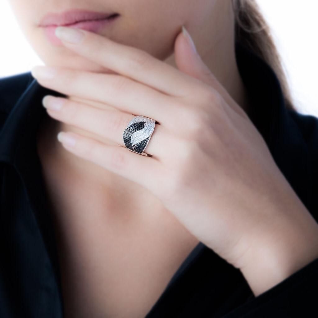Bague Lili-rose Argent Blanc Oxyde De Zirconium - Bagues avec pierre Femme | Histoire d'Or