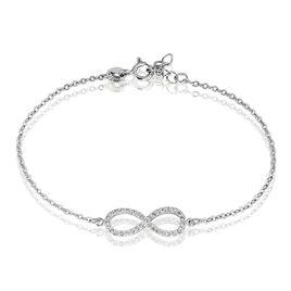 Bracelet Gwenaella Argent Blanc Oxyde De Zirconium - Bracelets Infini Femme   Histoire d'Or