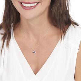 Collier Linaelle Or Blanc Saphir Et Diamant - Bijoux Femme | Histoire d'Or