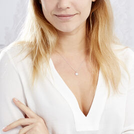 Collier Sarida Argent Blanc Oxyde De Zirconium - Colliers Etoile Femme | Histoire d'Or