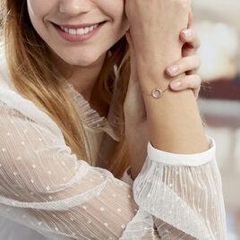 Bracelet Linnel Plaque Or Jaune - Bracelets fantaisie Femme | Histoire d'Or
