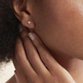 Boucles D'oreilles Puces Violanda Or Blanc Diamant - Clous d'oreilles Femme | Histoire d'Or