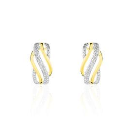 Boucles D'oreilles Puces Nila Or Jaune Diamant - Clous d'oreilles Femme | Histoire d'Or