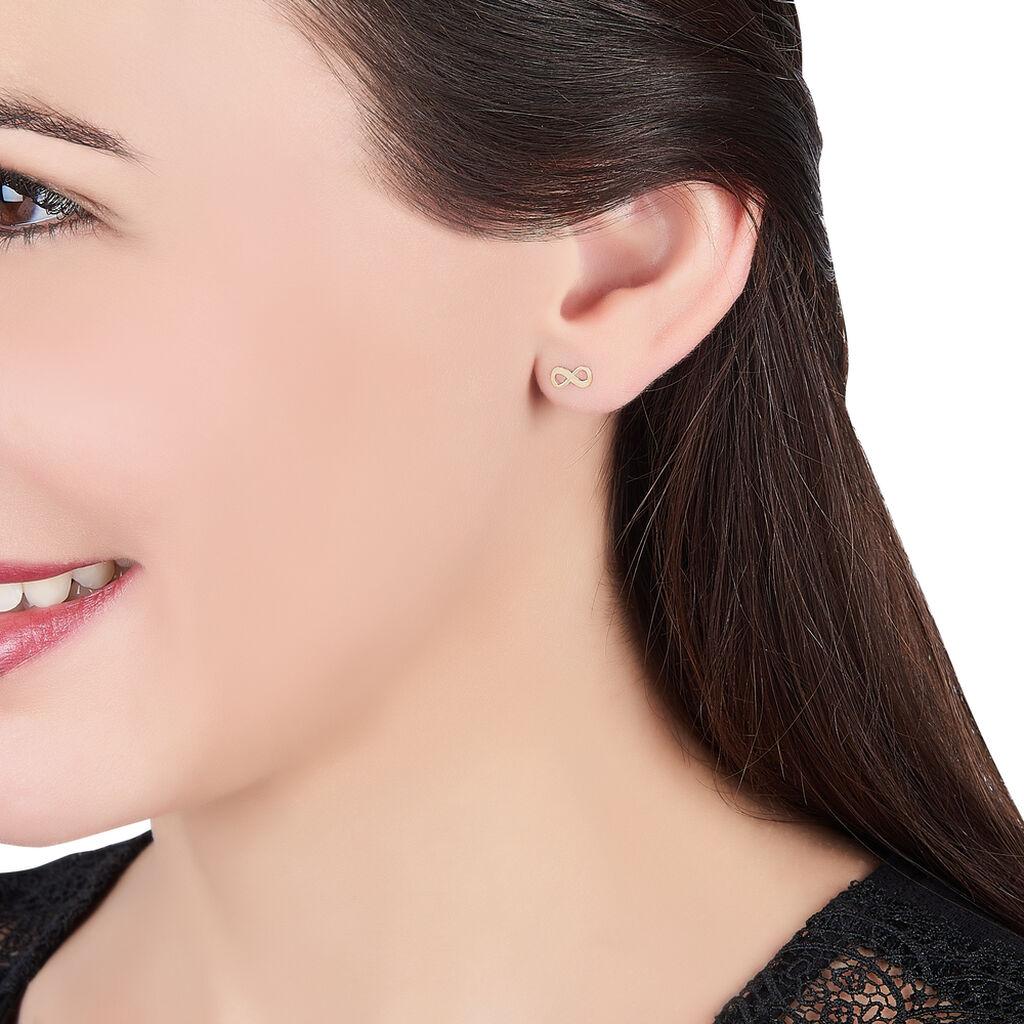 Boucles D'oreilles Puces Annie-francoise Infini Or Jaune - Boucles d'Oreilles Infini Femme | Histoire d'Or