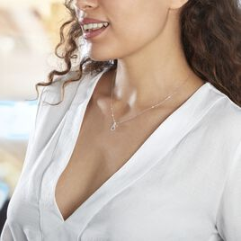 Collier Theanna Or Blanc Diamant - Colliers Infini Femme | Histoire d'Or