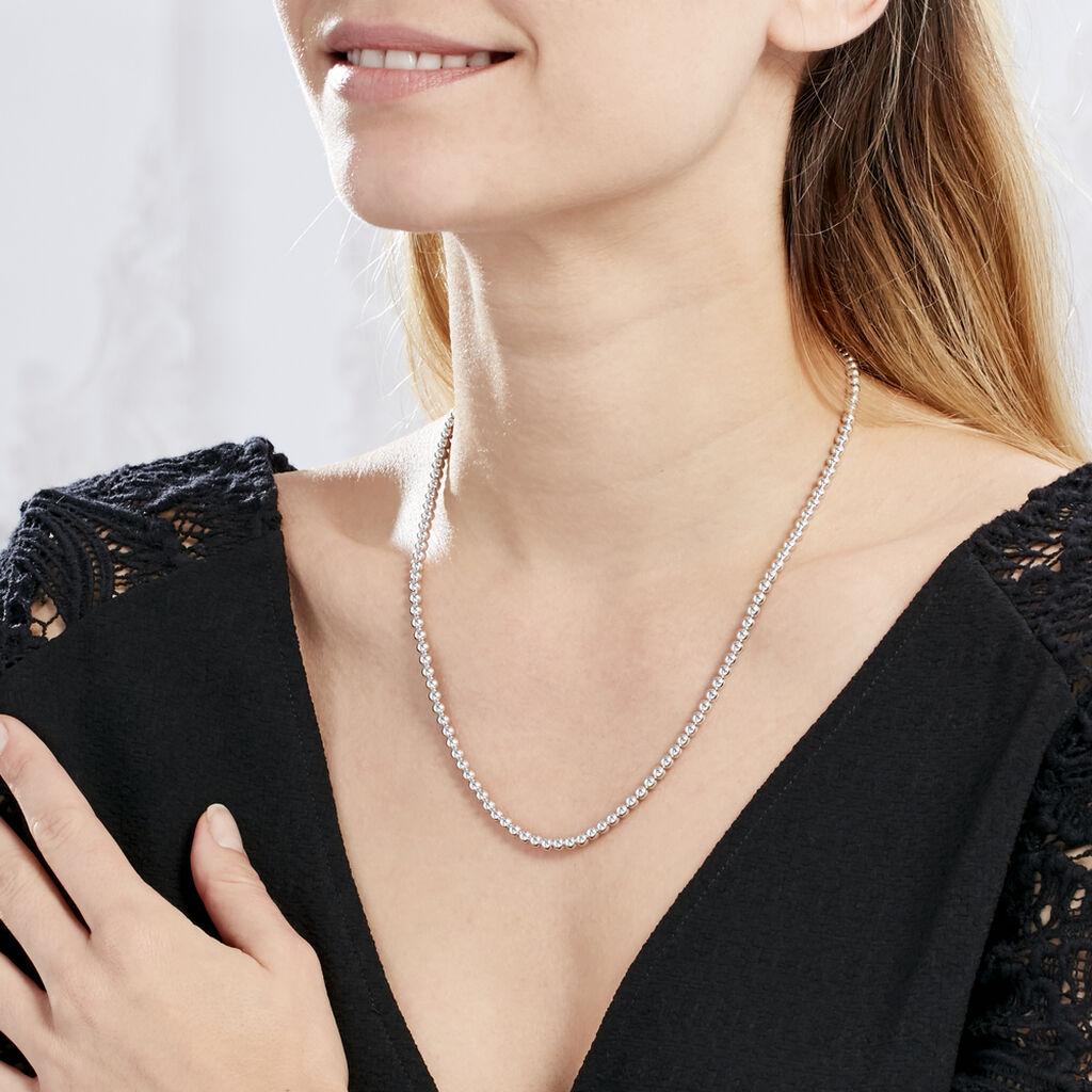 Collier Ciska Argent Blanc - Sautoirs Femme   Histoire d'Or