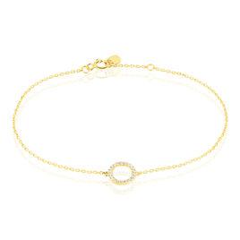 Bracelet Lim Or Jaune Oxyde De Zirconium - Bijoux Femme | Histoire d'Or