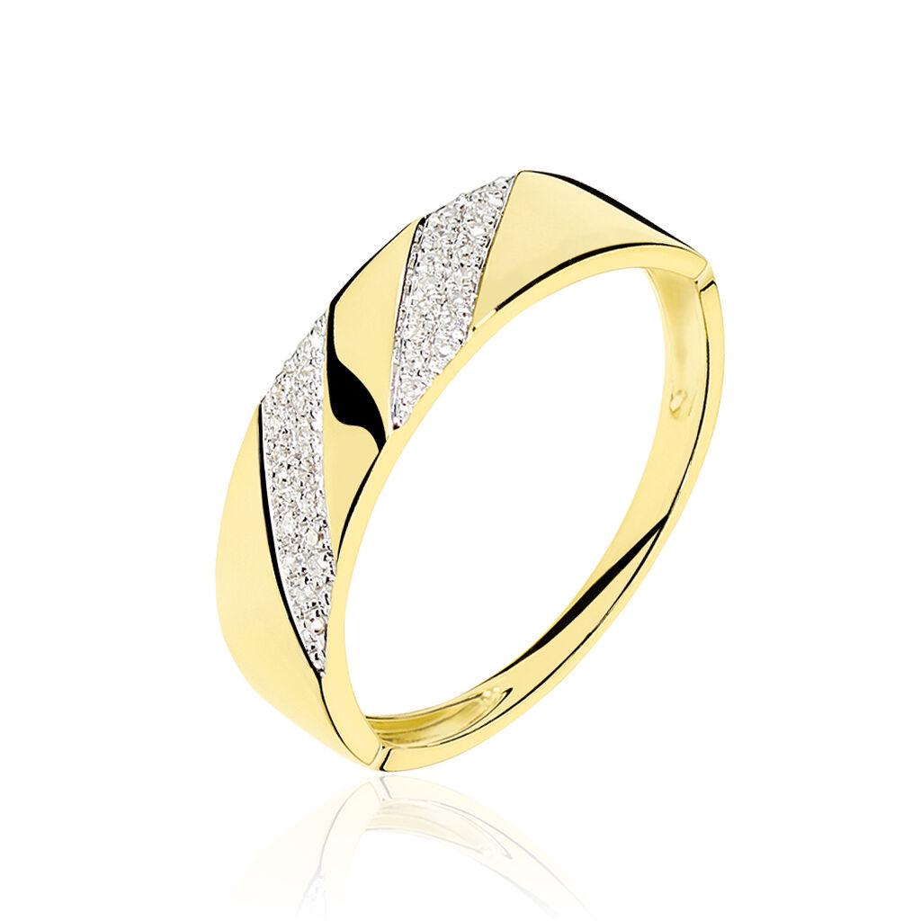 Bague Shalanda Or Jaune Diamant - Bagues avec pierre Femme | Histoire d'Or
