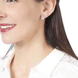Boucles D'oreilles Pendantes Nahya Or Jaune Oxyde De Zirconium - Boucles d'oreilles pendantes Femme | Histoire d'Or