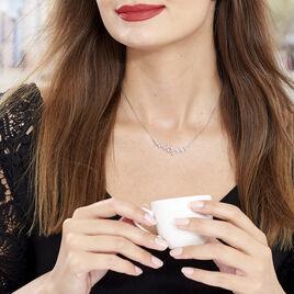 Collier Folia Argent Blanc - Colliers Plume Femme | Histoire d'Or