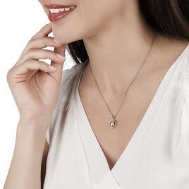 Collier Argent Coeur Perle De Culture Rose - Colliers Coeur Femme | Histoire d'Or