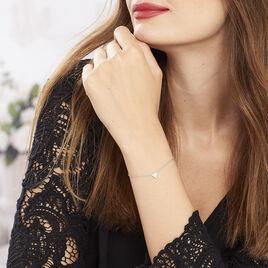 Bracelet Cassandre Argent Blanc Oxyde De Zirconium - Bracelets fantaisie Femme | Histoire d'Or