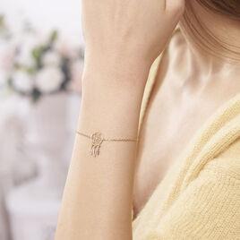 Bracelet Attrape Reves Plaque Or Jaune Pierre De Synthese - Bracelets Attrape rêves Femme | Histoire d'Or