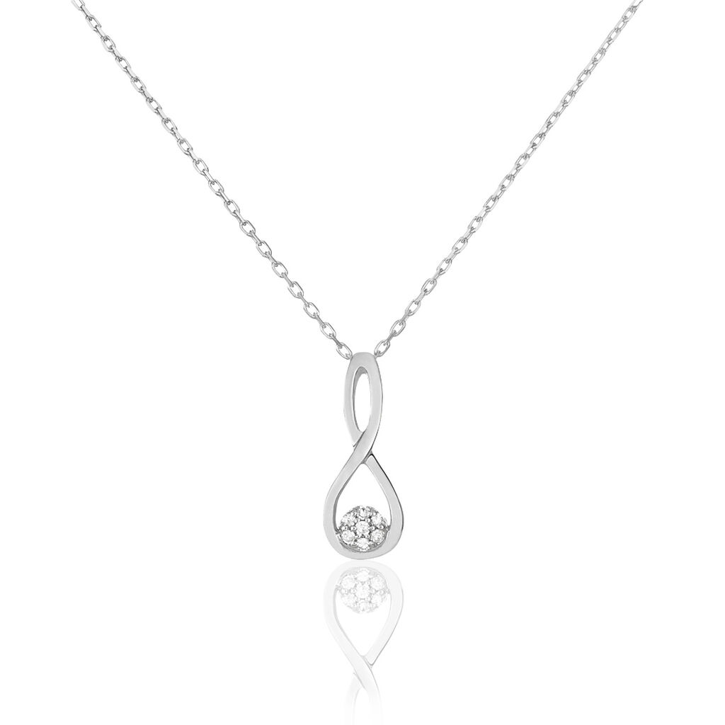 Collier Shaeen Or Blanc Diamant