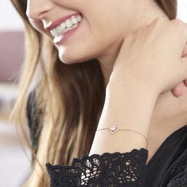 Bracelet Emila Or Rose Oxyde De Zirconium - Bijoux Femme   Histoire d'Or