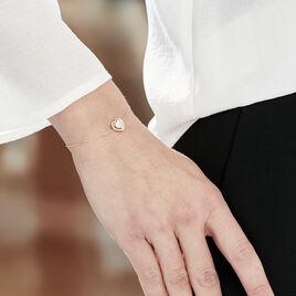 Bracelet Or Jaune Althea Forme Coeur Entourage Or Torsade 18.5cm - Bracelets Coeur Femme | Histoire d'Or