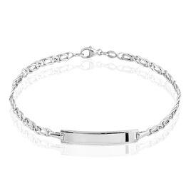 Bracelet Identité Fanelia Maille Marine Or Blanc - Bracelets Communion Enfant | Histoire d'Or