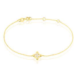Bracelet Filipina Or Jaune Oxyde De Zirconium - Bracelets Trèfle Femme | Histoire d'Or