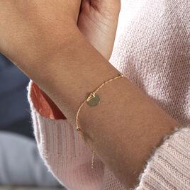 Bracelet Cobeia Croix Maille Forçat Or Jaune - Bracelets Croix Femme   Histoire d'Or