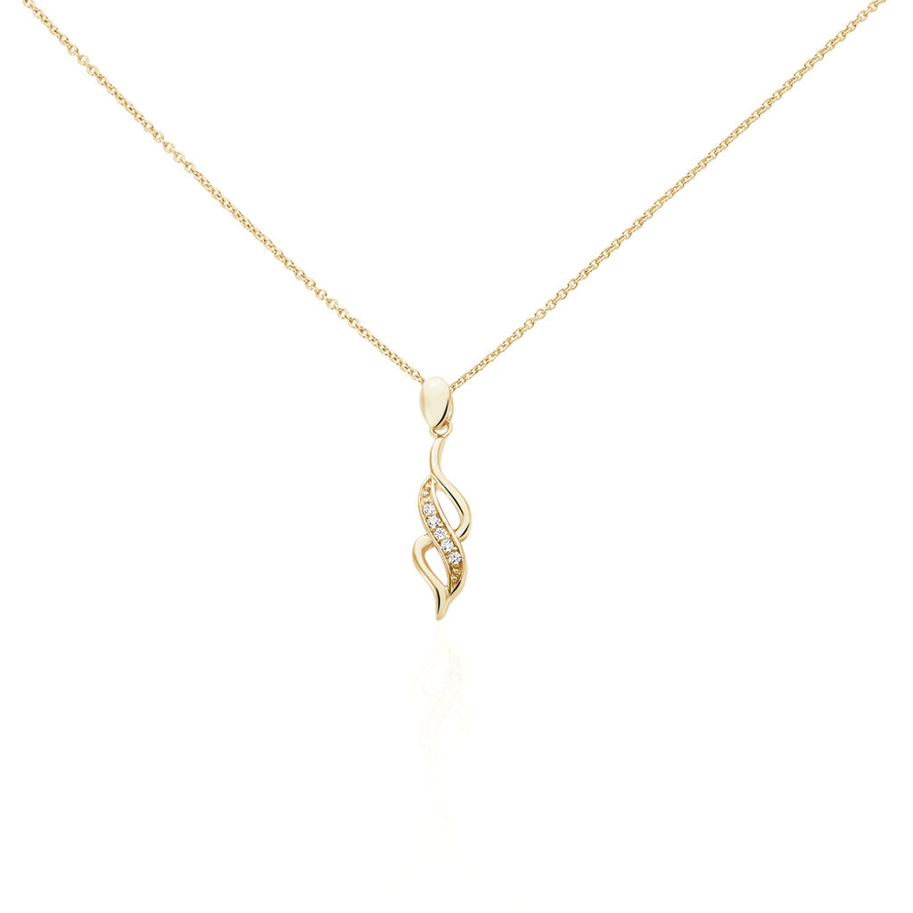 Collier Ishaae Plaque Or Jaune Oxyde De Zirconium - Colliers fantaisie Femme | Histoire d'Or
