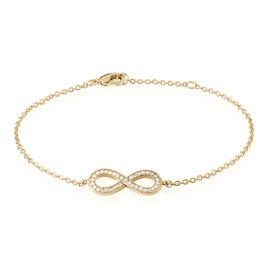 Bracelet Merane Plaque Or Jaune Oxyde De Zirconium - Bracelets Infini Femme | Histoire d'Or