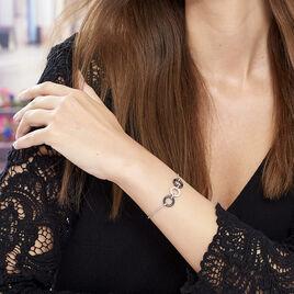 Bracelet Magalie Argent Blanc Céramique Et Oxyde De Zirconium - Bracelets fantaisie Femme | Histoire d'Or