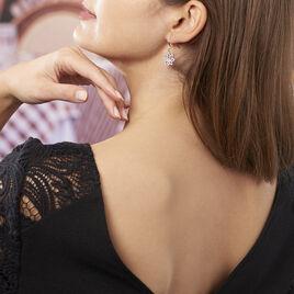 Boucles D'oreilles Pendantes Kahena Argent Blanc Oxyde De Zirconium - Boucles d'oreilles fantaisie Femme   Histoire d'Or