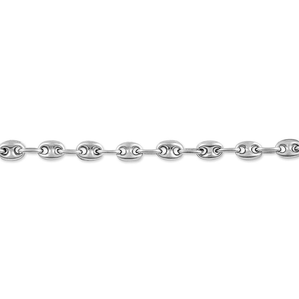 Bracelet Caroline Maille Grain De Cafe Argent Blanc - Bracelets chaîne Femme | Histoire d'Or