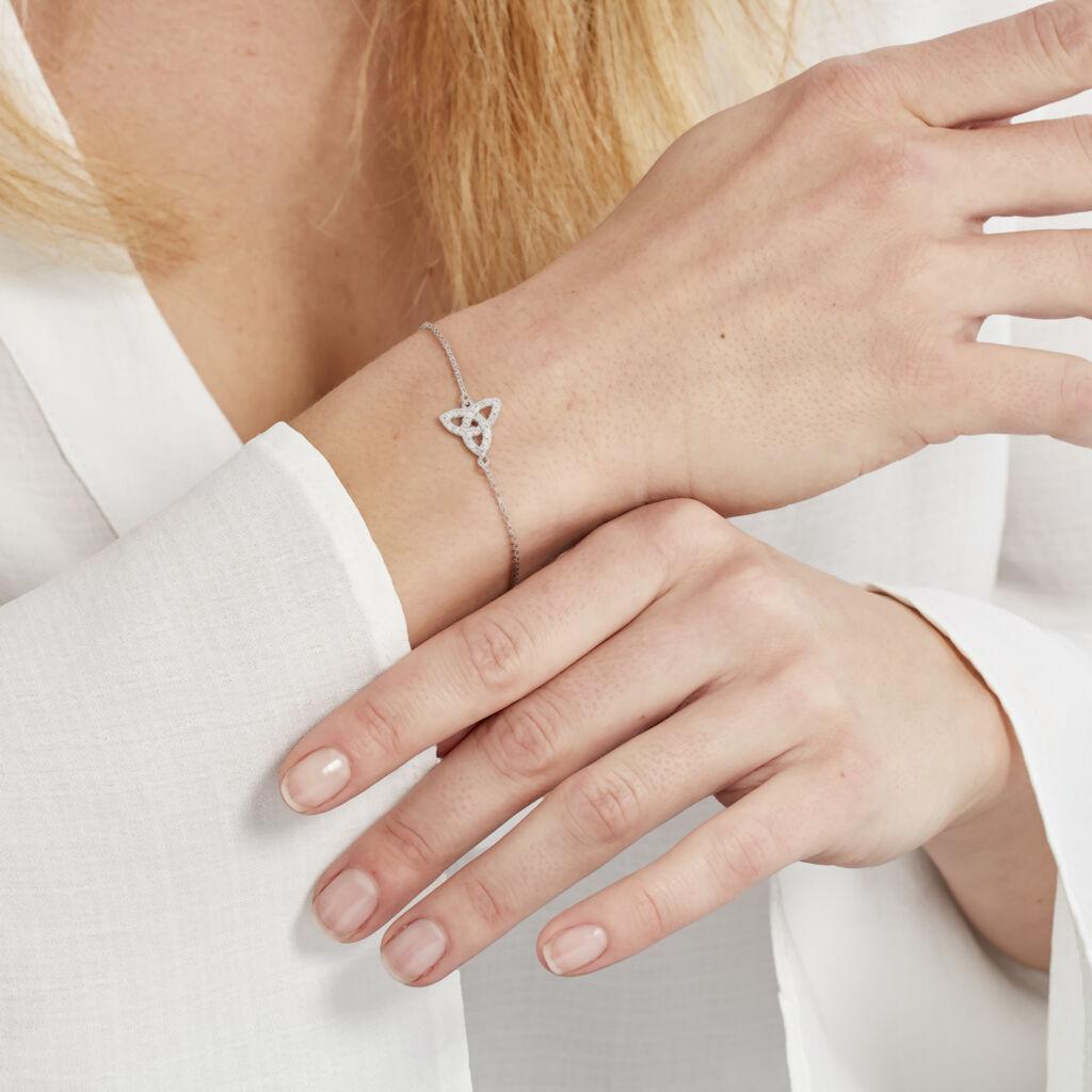 Bracelet Selma Argent Blanc Oxyde De Zirconium - Bracelets fantaisie Femme   Histoire d'Or