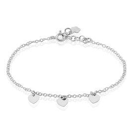 Bracelet Maryline Argent Blanc - Bracelets Coeur Femme | Histoire d'Or