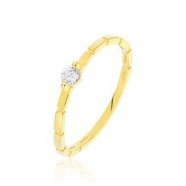 Bague Solitaire Ivanka Or Jaune Diamant - Bagues solitaires Femme | Histoire d'Or