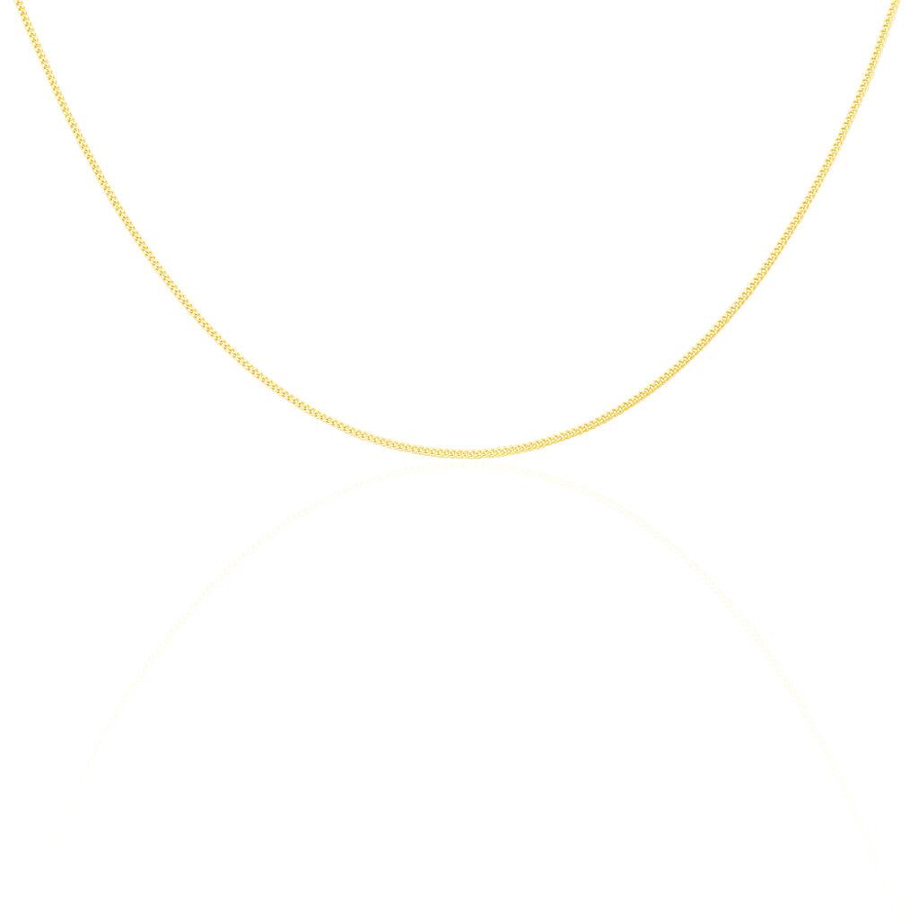 Chaîne Ixia Maille Gourmette Diamantee Or Jaune - Chaines Unisexe | Histoire d'Or