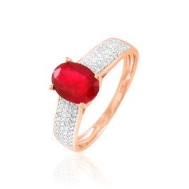 Bague Crista Or Rose Rubis Et Diamant - Bagues avec pierre Femme | Histoire d'Or