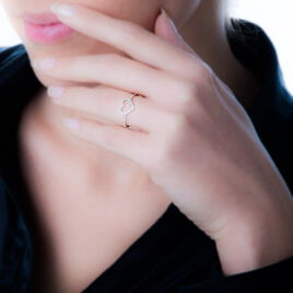 Bague Eglentyne Or Blanc Diamant - Bagues Coeur Femme | Histoire d'Or