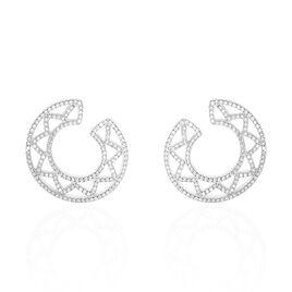 Boucles D'oreilles Pendantes Abia Argent Blanc Oxyde De Zirconium - Boucles d'oreilles pendantes Femme | Histoire d'Or