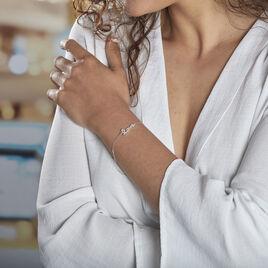 Bracelet Elly Argent Blanc Oxyde De Zirconium - Bracelets fantaisie Femme   Histoire d'Or